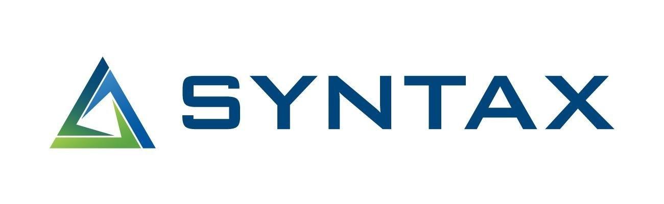 syntax logo white